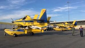 Aviões disponibilizados à Suécia para combater fogos voltam para Portugal
