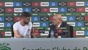 A braçadeira de capitão do Sporting ainda está por atribuir.