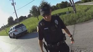 Polícia ao telefone atropela ciclista