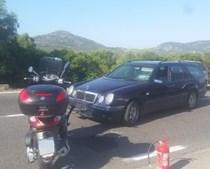 Moto conduzida por Clooney chocou com carro em Itália