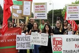 Profissionais manifestaram-se em frente ao Centro de Medicina de Reabilitação e, por momentos, cortaram a EN109