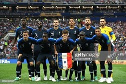 O onze inicial da França na final do Mundial