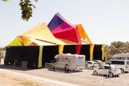 Recinto do festival Boom em Idanha-a-Nova