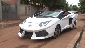 Brasileiro transformou Fiat Uno em Lamborghini Aventador