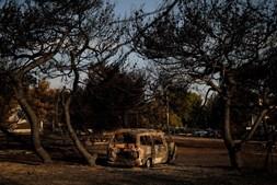 O rescaldo dos incêndios na Grécia um dia depois da tragédia