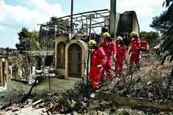 Buscas por desaparecidos na Grécia