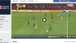 Primeira transmissão da Eleven Sports no Facebook marcada por falhas