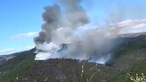 Incêndio em Vinhais dominado
