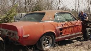 Um dos Ford Mustang mais valiosos do mundo encontrado num campo