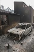 O rasto de destruição deixado pelas chamas em Monchique