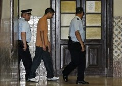 Wellington Nazaré durante o julgamento pelo assalto ao BES de Campolide