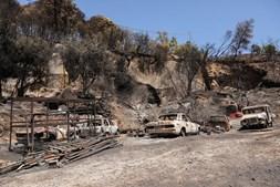 Devastação do fogo de Monchique