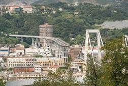 Ponte Morandi desabou no dia 14 de agosto de 2018, em Génova