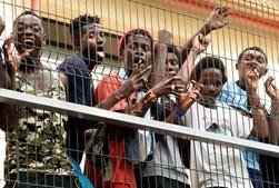 Migrantes em Ceuta