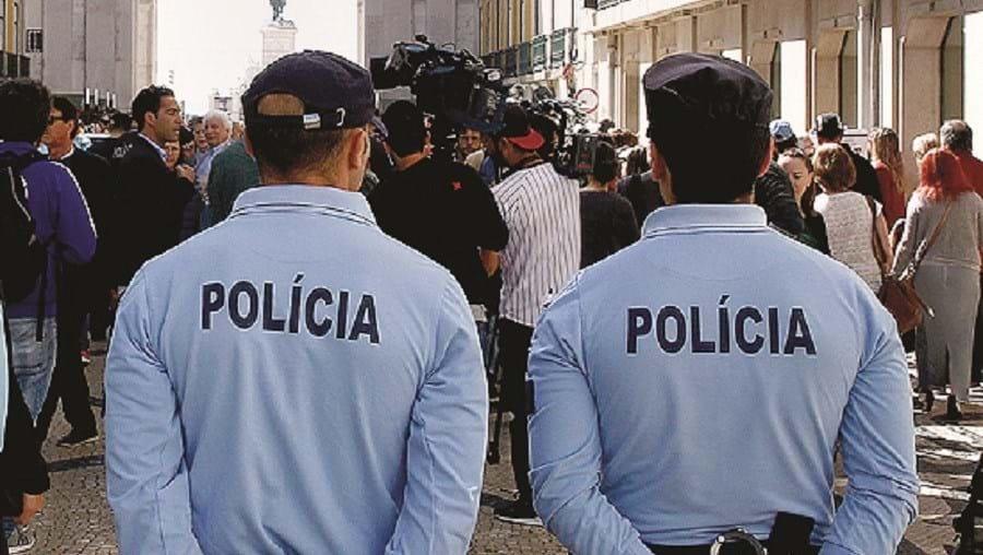 Polícia na Baixa de Lisboa
