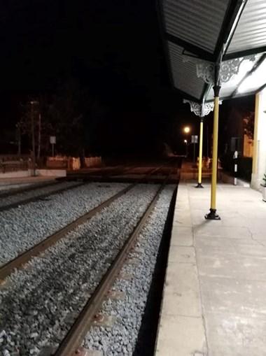 Comboio parado em Beja