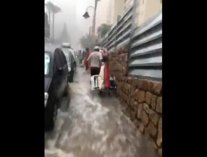Tempestade estraga férias em Benidorm