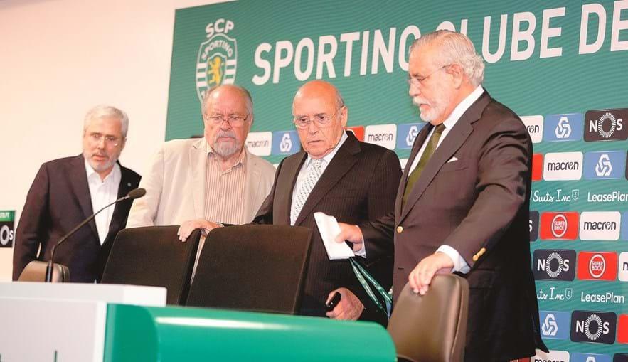Henrique Monteiro, Jaime Marta Soares, Sousa Cintra e Torres Pereira, dirigentes do Sporting