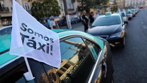 As imagens do protesto dos taxistas pelo país