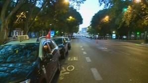 Protesto dos taxistas condiciona o trânsito em Lisboa