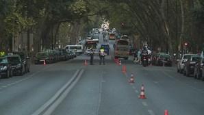 CMTV mostra dimensão de concentração de taxistas na Av da Liberdade