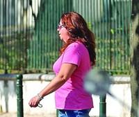 Rosa Grilo, viúva do triatleta