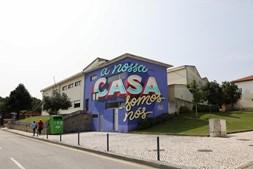 Grafitti incorporado no ESTAU - Festival de Arte Urbana de Estarreja