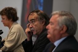 O produtor Paulo Branco, ontem na apresentação do 12º Lisboa & Sintra Film Festival