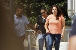 Rosa Grilo à chegada ao Tribunal de Vila Franca de Xira