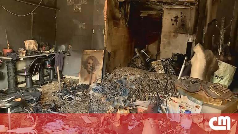 b57b913b3dc Incêndio destrói cabeleireiro em Portimão - Portugal - Correio da Manhã