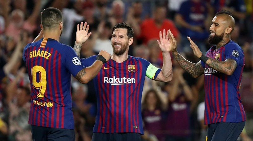 b9a4ff4ec9 Messi começa Champions com  hat-trick  na goleada do Barcelona ao PSV  Eindhoven