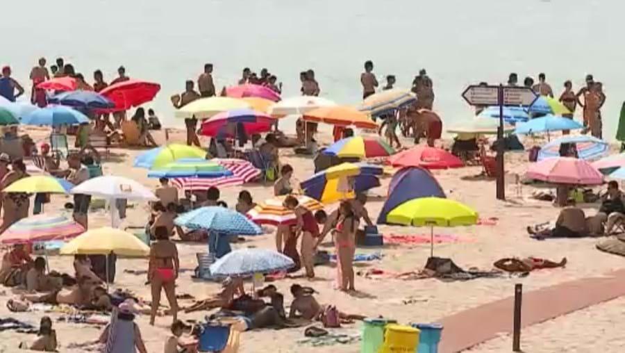 Calor, praia