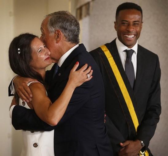 Nelson Évora e Inês Henriques condecorados pelo Presidente da República