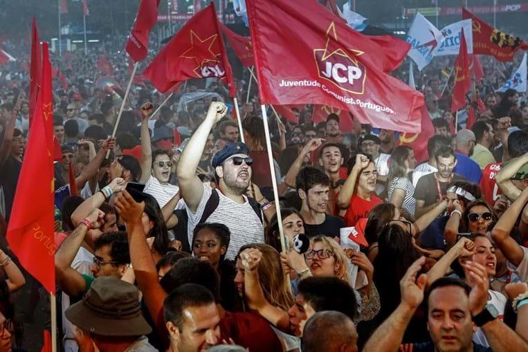 Militantes comunistas na Festa do Avante de 2018