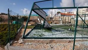 Coimbra com vários campos de padel destruídos após furacão Leslie