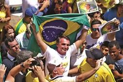 Jair Bolsonaro, candidato às eleições presidenciais do Brasil