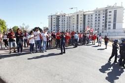Adeptos do Benfica no Clássico