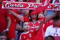 Adeptos do Benfica no Estádio da Luz