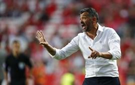 Sérgio Conceição no jogo no Benfica - FC Porto