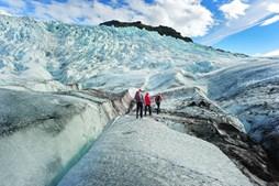 O glaciar Myrdalsjokull, na Islândia, foi usado para recriar as paisagens geladas nas imediações da muralha