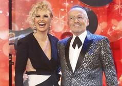 Cristina Ferreira com Manuel Luís Goucha na TVI, em 2017