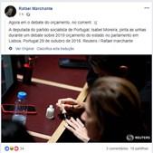 Isabel Moreira pinta as unhas durante debate do OE 2019