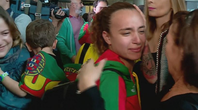 39b243e959 Seleção de sub 19 de Futsal Feminino recebida em festa após triunfo nos  Olímpicos da Juventude