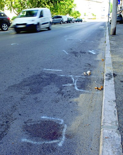 Local onde a mulher foi atropelada mortalmente, na rua Movimento das Força Armadas. Condutor guiava com excesso de álcool