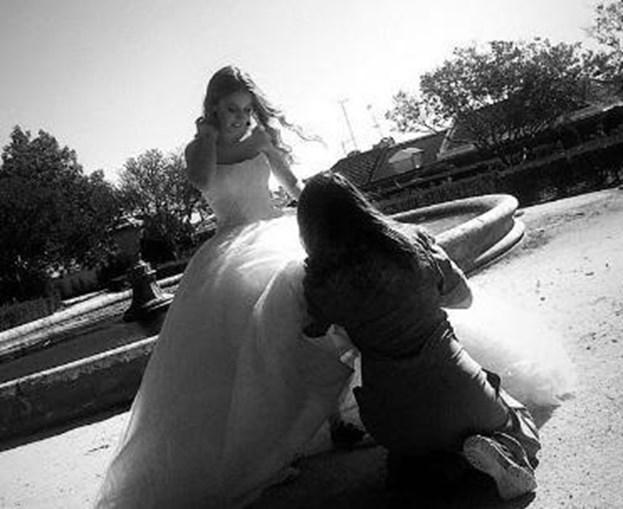 Filha de Tony Carreira vestida para casar