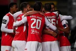 Jogadores do Sporting de Braga celebram vitória