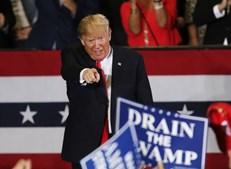 Trump em comício da campanha para as eleições intercalares nos EUA