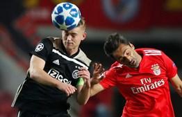 Momento do jogo Benfica - Ajax