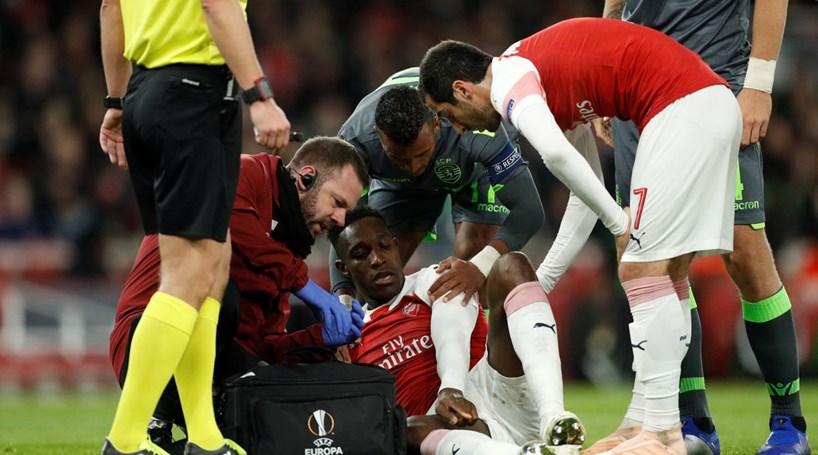 Welbeck continua hospitalizado depois de se ter lesionado frente ao Sporting 4a1f410ab508f