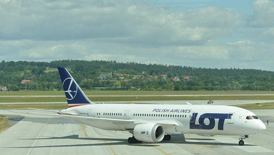 Avião da companhia polaca LOT